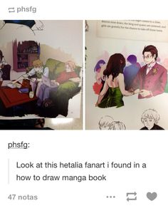 I love the fact that someone decided to make Hetalia fanart in a how to draw manga book