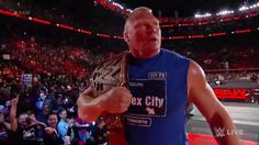 Brock Lesnar W Live, Brock Lesnar, Wwe Wrestlers, Tank Man, Champion, Mens Tops, Fan, Board, Lucha Libre