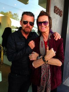 Me and my mate Billy Duffy at the Annual John Varvatos Stuart House event in Hollywood...