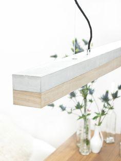 Beton Hängelampe // concrete hanging lamp via DaWanda.com