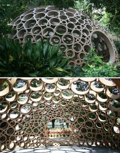 Cardboard Creations: 45 Recycled Works of Art - Houses interior designs Architecture Design, Pavilion Architecture, Landscape Architecture, Pavilion Design, Serpentine Gallery Pavilion, Licht Box, Cardboard Art, Cardboard Design, Cardboard Tubes