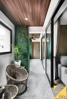 """How to Create a """"Balcony"""" When You Don't Have One Vertical Garden Wall, Renovation Budget, Ceiling Design, Design Firms, Small Apartments, My Dream Home, Home Interior Design, Home And Living, Balcony"""