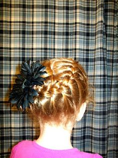 Little Girl French Braid with a twist