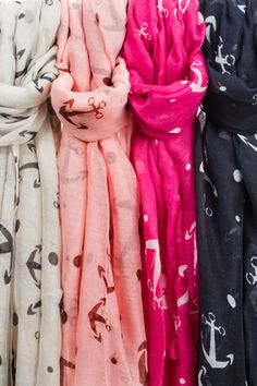 Anchor Scarves-3 Great Colors - String Bean Boutique