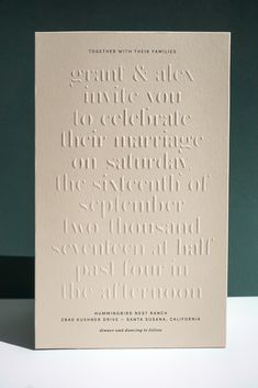 GRANT & ALEX'S WEDDING INVITATIONS