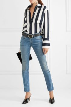 RE/DONE - Low-rise Skinny Jeans - Blue