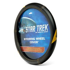 This Star Trek Delta Logo Speed-Grip Steering Wheel Cover features the command insignia embossed around the edge three times. And you don't have to be Scotty to install it. No tools needed.