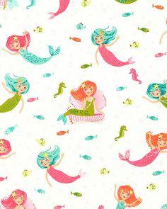 Aquatic Friends - Mermaid Hello - Hot Pink