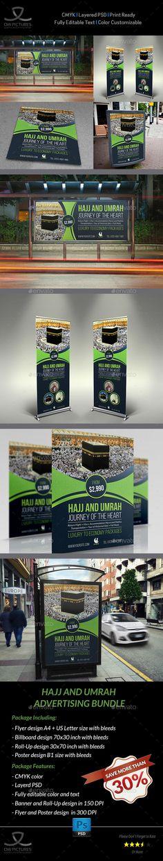 Hajj and Umrah Advertising Bundle - Template PSD