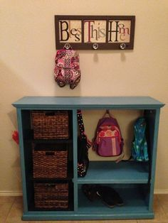 Entryway or Mudroom organizer Another use for those old