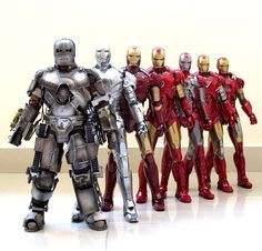 Tony Stark's Iron Man suits throughout the movies.