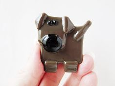 Chocolate Brown Lab Magnet  Refrigerator Magnet  by LaRocheStudios