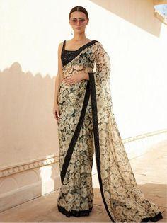 Buy Bollywood Sabyasachi Inspired floral pure organza digital saree in UK, USA and Canada Sabyasachi Collection, Saree Collection, Designer Collection, Sabyasachi Sarees Price, Lehenga Choli, Indian Dresses, Indian Outfits, Lehenga For Girls, Lace Saree