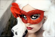 Custom Beaded Mask - Wedding Masquerade Mask in Any Color and Style - Alternative Wedding Veil or Fascinator - ArtisanMaskers
