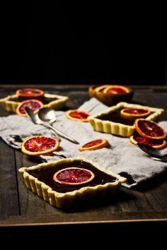 Dark Chocolate Orange Tarts with Orange Scented Sablé