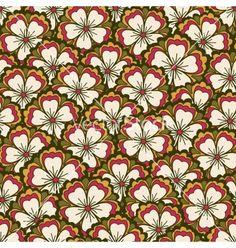 Spring flower pattern vector on VectorStock®