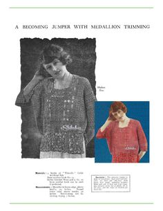 1920s Flapper Jumper or Blouse Dolman Sleeve with by eStitches