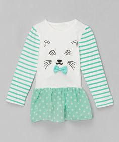 Another great find on #zulily! Green Cat Tunic - Infant & Toddler #zulilyfinds