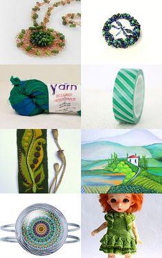 spring Green by Olga Kolot on Etsy--Pinned+with+TreasuryPin.com