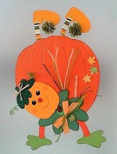 Fensterbild- sportlicher Kürbis- Herbst - Helloween - Dekoration - Tonkarton!