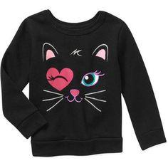 Garanimals Baby Toddler Girl Graphic Fleece Top - Walmart.com