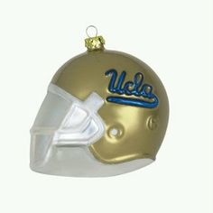 """UCLA Bruins Team Glass Helmet Ornament by Scottish Christmas. $9.99. Mouth Blown. Official Colors and Logo. Material: Glass. Perfect For Your Tree. Size: 3 inches. Gridiron action is getting a heads-up with these 3"""" Team Helmet Ornaments! Each glass ornament is made of mouth-blown glass and packaged in an official Collegiate box. Glass Helmet U.S. Design Patent D443846"""