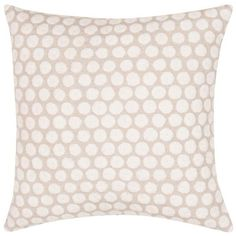 Embroidered Dot Yorkville Pillow in Cream design by Kate Spade (410 SAR) ❤ liked on Polyvore featuring home, home decor, throw pillows, pillows, kate spade home decor, embroidered throw pillows, off white throw pillows, cream throw pillows and dot throw pillow