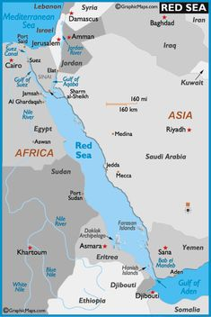 Sea Around Us ch 2 - Red Sea Map and Map of the Red Sea Depth Size History Information Page