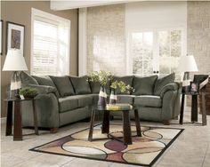 Bought this locally for the new house. Durapella Sage Modern Sectional by Ashley. Now I need tables and accent chairs.