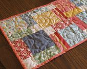 Quilted Table Runner Topper Summer  Gift Idea Salt Air by Moda
