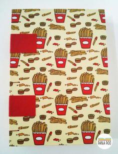 Caderno French Fries | Batatinhas - Pana Poo