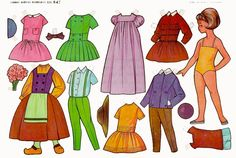 This item is unavailable Little Girl Toys, Toys For Girls, Very Nice Images, Vintage Paper Dolls, Free Graphics, Paper Models, Doll Accessories, Retro, Doll Clothes