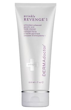 ♥ DERMAdoctor Wrinkle Revenge 1 Antioxidant Enhanced Glycolic Acid Facial Cleanser, contains 12% glycolic acid, I use as part 2 of my double cleansing routine AM & PM, $24.00 for 7 oz.   Wonder how wells it works.