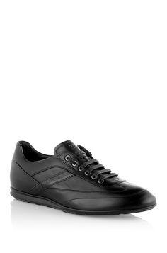 BOSS Sneaker ´Atliano` aus Leder Dunkelgrau
