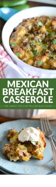 Mexican Breakfast Casserole - A delicious recipe for breakfast or brunch, and perfect for guests!
