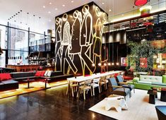 The concrete designed citizenM hotel is making its debut in the United States with its first skyscraper in the heart of New York City, on Times Square! citizenM Times Square offers New York 230 of its signature gu. New York Times, Times Square New York, Unusual Hotels, Affordable Hotels, Amazing Hotels, Nyc Hotels, New York Hotels, Budget Hotels, Nyc Restaurants