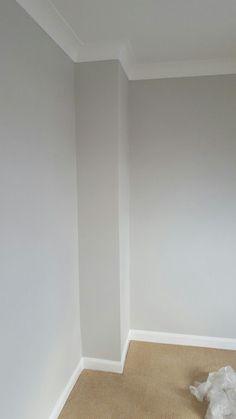 Hallway colour - dulux pebble shore more hallway colours, carpet runner, hallway ideas, Living Room Paint, Living Room Grey, Home Living Room, Living Room Designs, Cream Carpet Living Room, Hallway Colours, Wall Colors, House Colors, Colour Schemes For Hallways