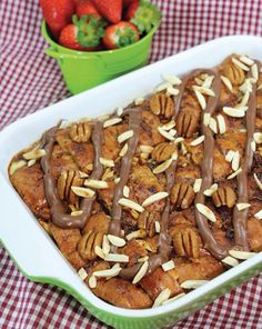 بودينغ الخبز مع النوتيلا من ديما حجاوي Bread and butter Nutella pudding by Deema Hajjawi
