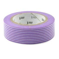 Masking tape purple stripes