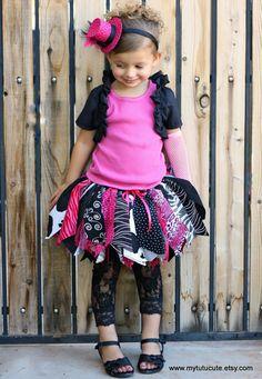 CUTE! Fabric Scraps Zebra Tutu Skirt