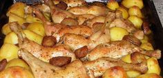 csirkecombok Wood Fired Oven, Bacon, Potatoes, Meat, Chicken, Vegetables, Cooking, Food, Wood Burning Oven