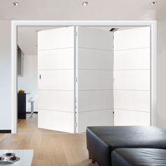 Thrufold Adelphi White 3+0 Folding Door - Lifestyle Image