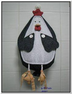 Puxa Saco, confeccionado com tecido 100% algodão.  Modelo Galinha Griselda. Consulte outras opções de cores/estampas.  Deixe suas sacolas tudo em um único lugar. R$ 68,00