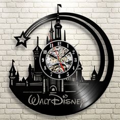 Walt Disney Vinyl Record Clock