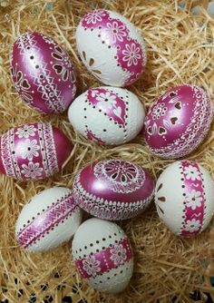 Ukrainian Easter Eggs, Egg Decorating, Dot Painting, Patterns, Spring, Eggs, Block Prints, Pointillism, Pattern