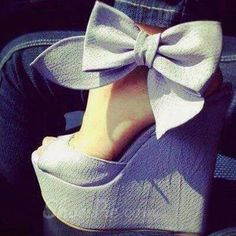 Finally found the website these shoes are on!!! Cool Show Elegant Bowtie Peep Toe Wedge Heel Sandals