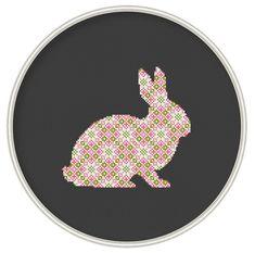 Bunny cross stitch pattern ornament rabbit door MagicCrossStitch