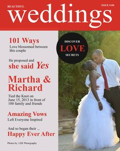 WEDDING  LDE photography in Riverview,Florida  Subject: Bride and Groom Location: Douglasville,GA Pose: groom pulls bride into close body kiss Time: Sunset flair Photo Session: magazine cover discover love secrets   Wedding announcement
