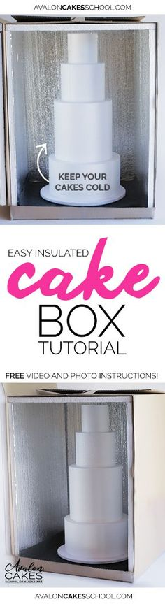 Make an Insulated Cake Delivery Box Tutorial This keeps my cakes COLD during delivery EVERYTIME! This has been a lifesaverThis keeps my cakes COLD during delivery EVERYTIME! This has been a lifesaver Cake Decorating Techniques, Cake Decorating Tutorials, Cookie Decorating, Baking Business, Cake Business, Cold Cake, Cake Delivery, Delivery Food, Cake Supplies