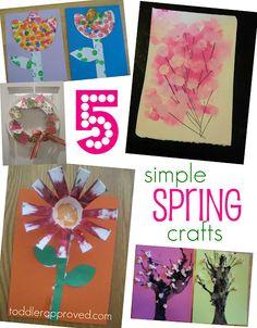 Simple Toddler Crafts for Spring Spring Crafts For Kids, Spring Projects, Projects For Kids, Art For Kids, Art Projects, Classroom Crafts, Preschool Crafts, Easter Crafts, Holiday Crafts